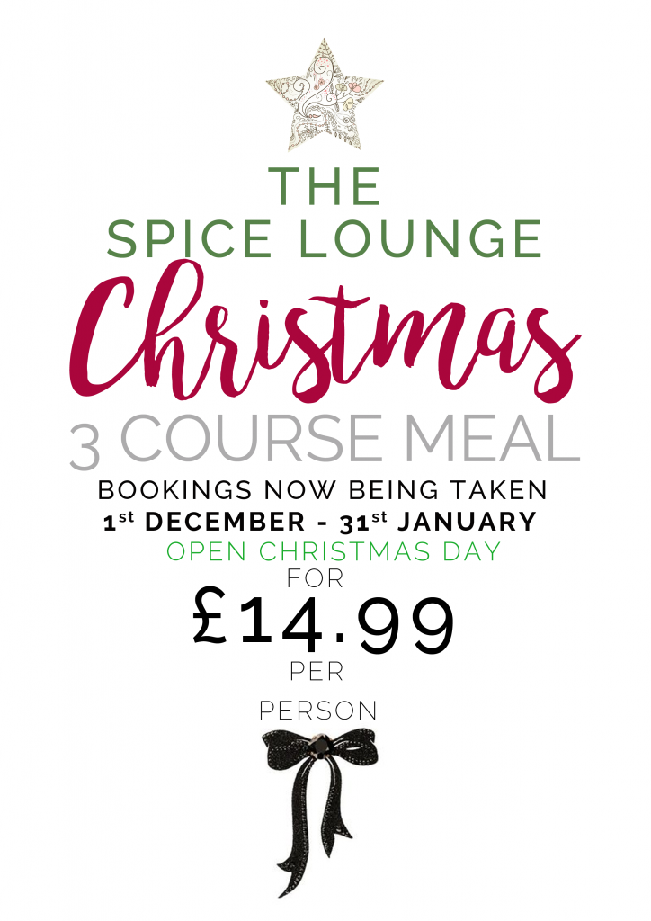 christmas bookings for the spice lounge wigan