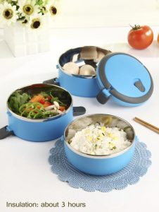 blue thermal lunch boxes